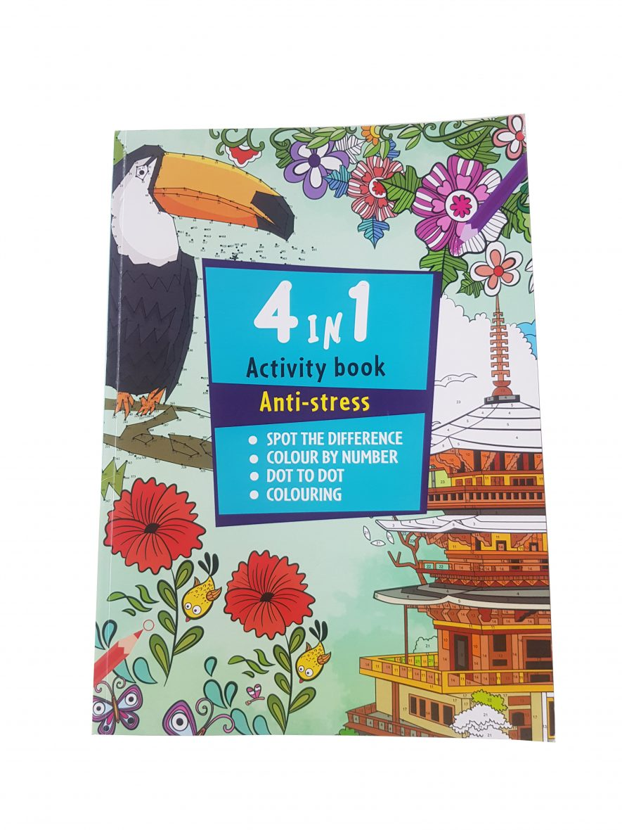 4 in 1 Activity Book – Anti-Stress