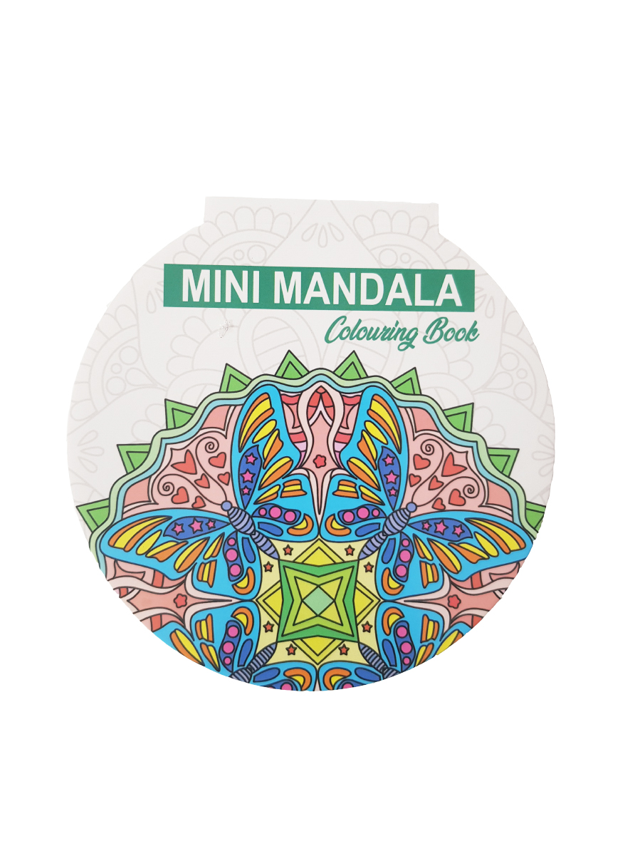 Mini Mandala Kleurboek – Rond – Groene voorkant