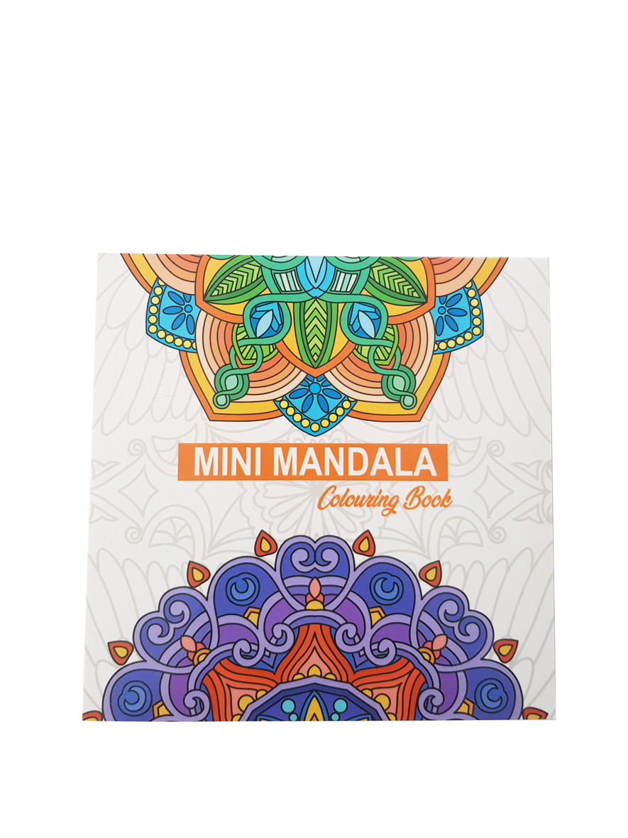 Mandala's Kleurboek – Vierkant – Oranje voorkant