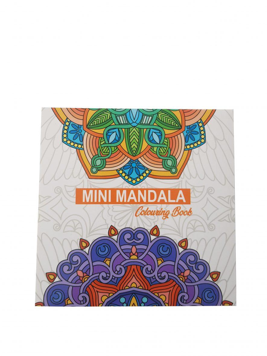 Kleurboek – Mini Mandala Colouring Book – Vierkant – Oranje voorkant