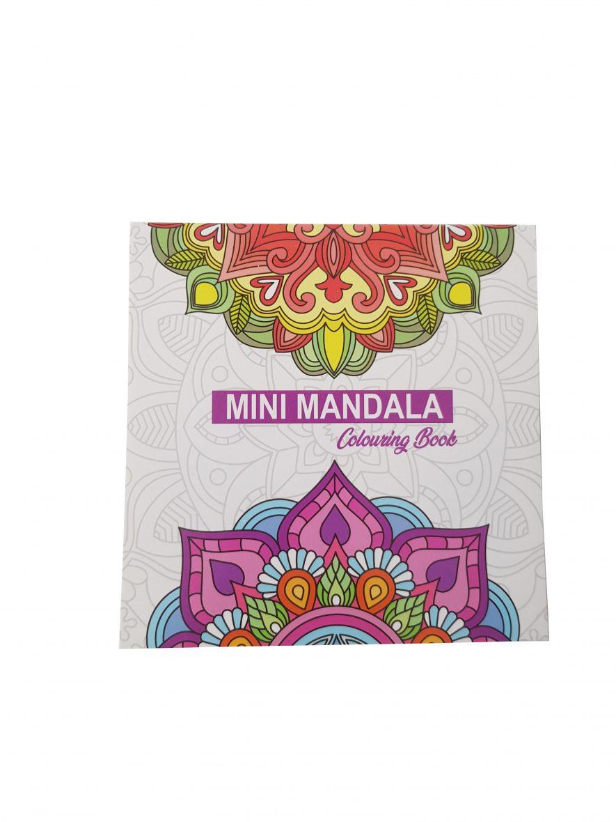 Mini Mandala Colouring Book – Vierkant – Paarse voorkant