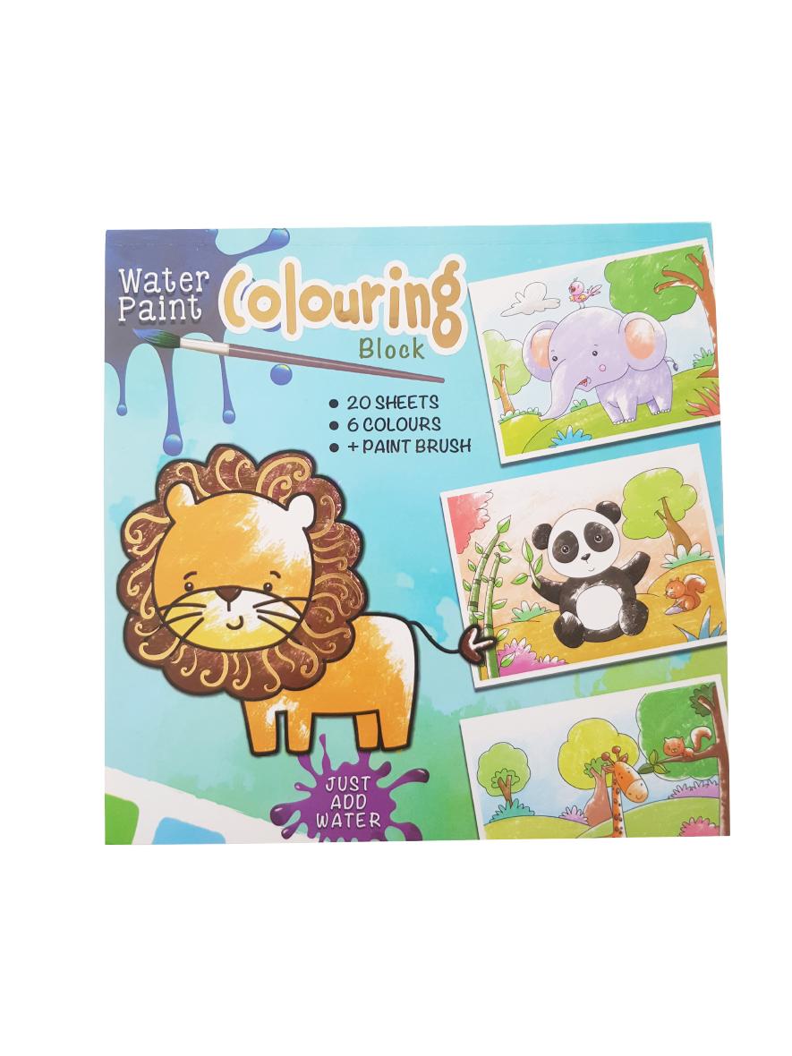 Waterverf Kleurboek Dieren – 'Waterverf Colouring Block'