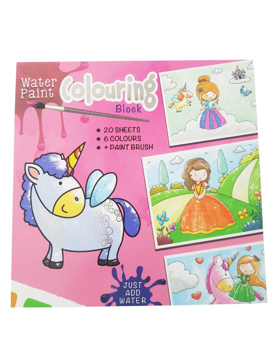 Waterverf Kleurboek Prinsessen – 'Waterverf Colouring Block'