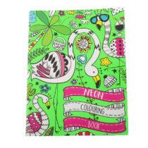 Neon Kleurboek Flamingo's