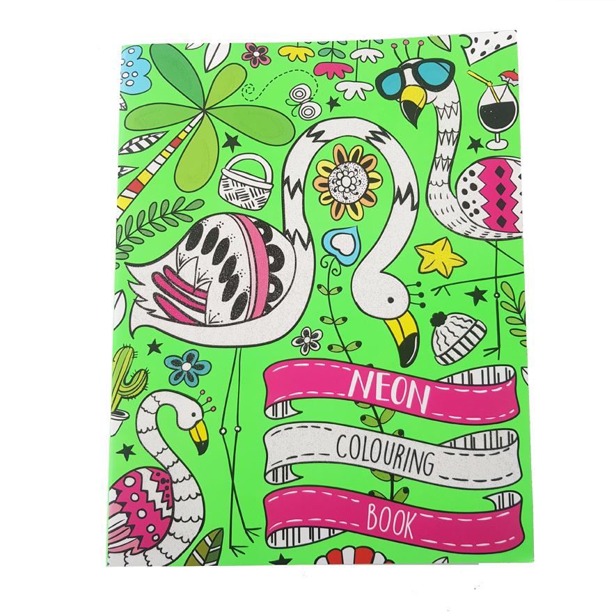 Neon Kleurboek Flamingo's – 'Neon Colouring Book'