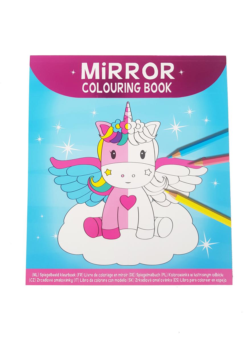 Spiegelbeeld Kleurboek Eenhoorns – 'Mirror Colouring Book'
