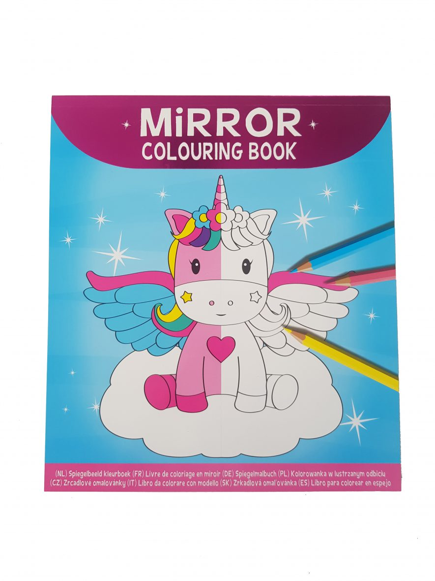 Mirror Colouring Book – Eenhoorns