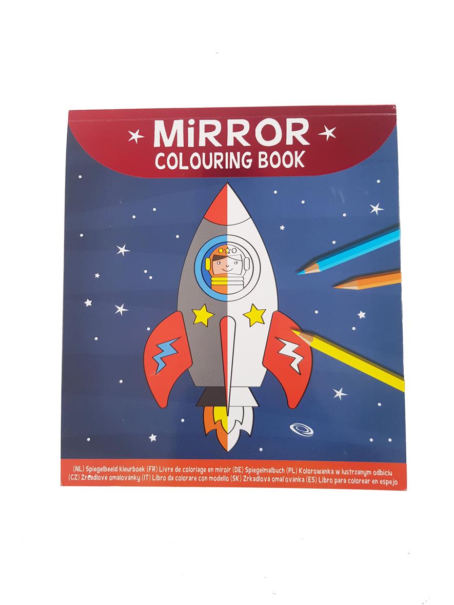 Spiegelbeeld Kleurboek Ruimte – 'Mirror Colouring Book'