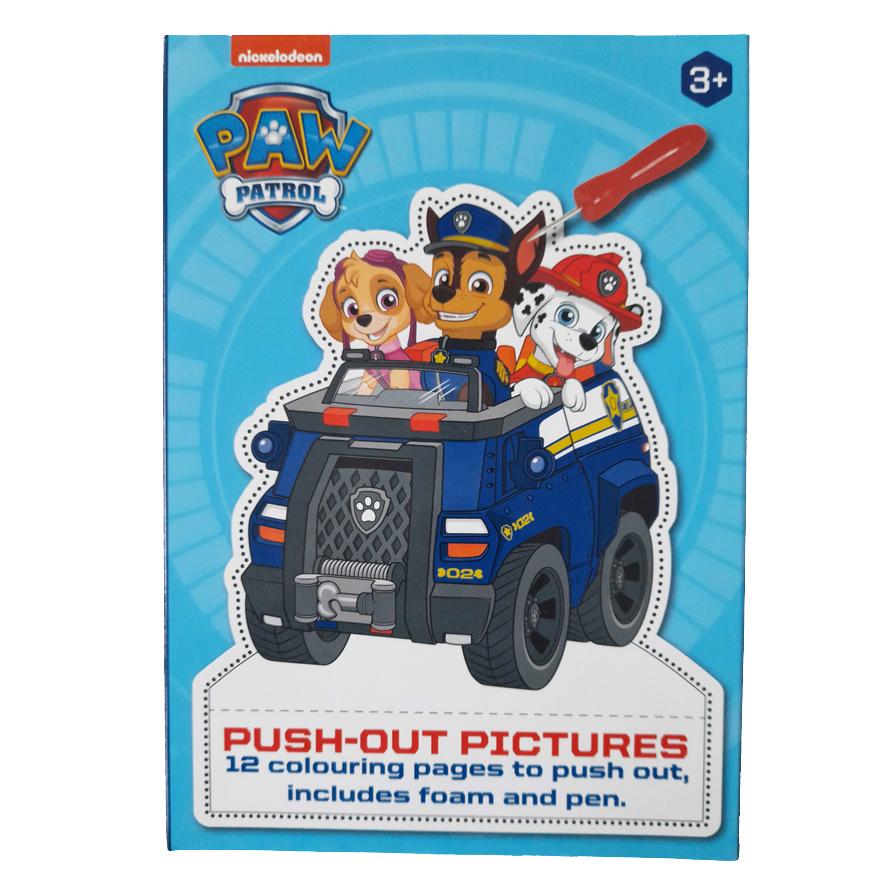 Prikbord PAW Patrol – 'Push-Out Plaatjes' met Prikbord en Prikpen – Blauw