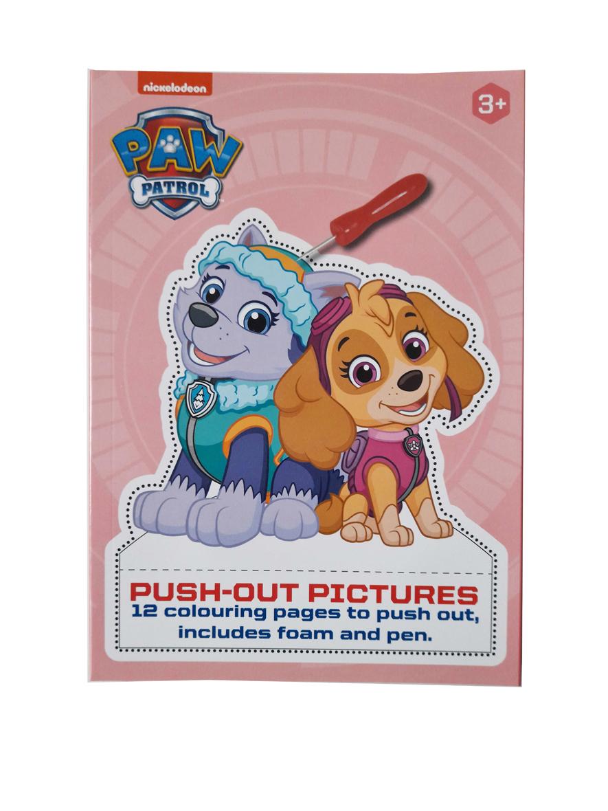 Prikbord PAW Patrol – 'Push-Out Plaatjes' met Prikbord en Prikpen – Roze