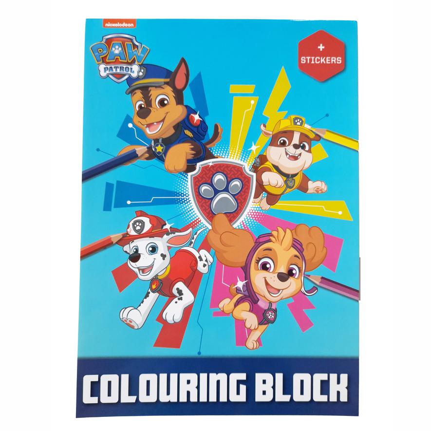 PAW Patrol Kleurboek met Stickers – 'Blauw'