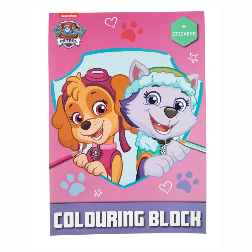 PAW Patrol Kleurboek met Stickers – 'Roze'