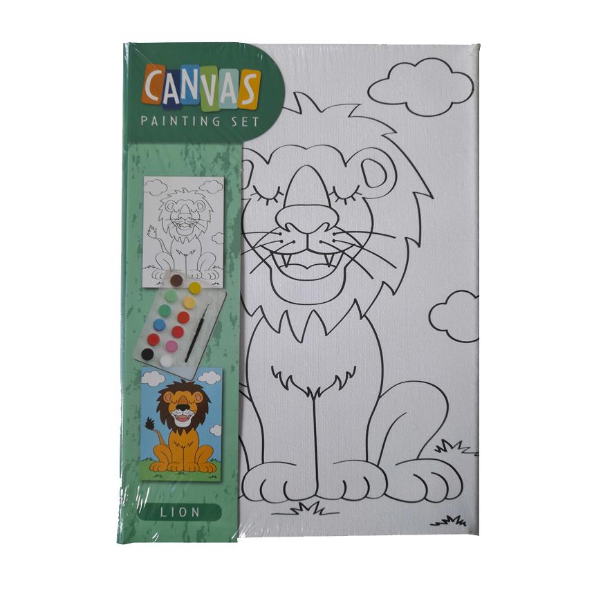 Canvas Leeuw – Schilderset