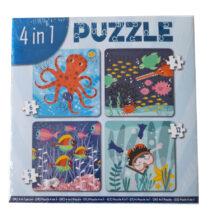 4 in 1 Puzzel Oceaan