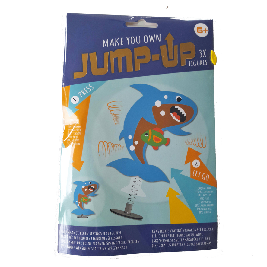 Maak je Eigen Jump-Up Springfiguur – Haai