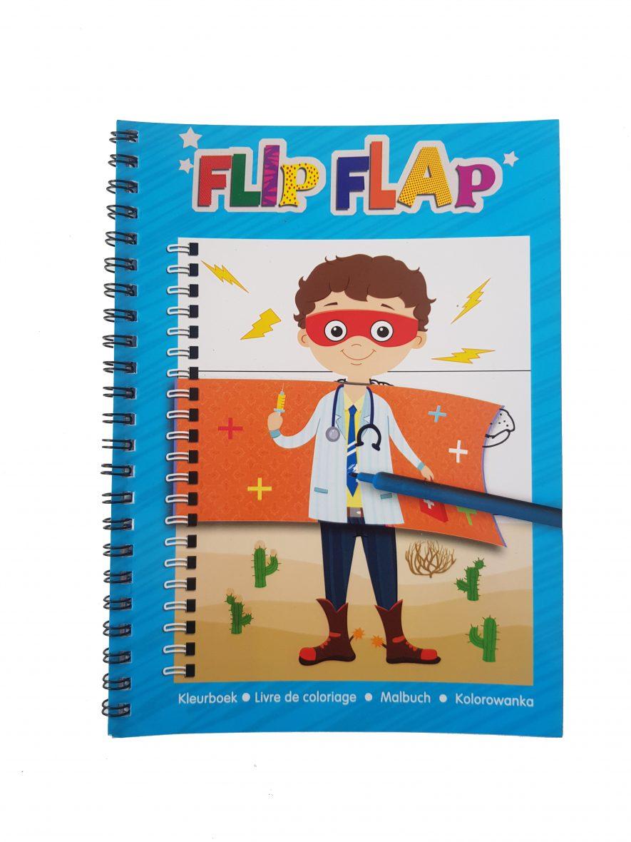 Flip & Flap Colouring Book – Jongen