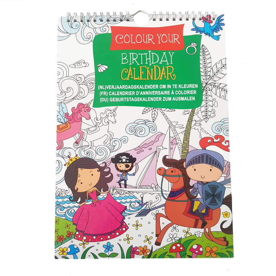 Verjaardagkalender Kleurboek Avonturen – 'Colour your own Birthday Calendar'
