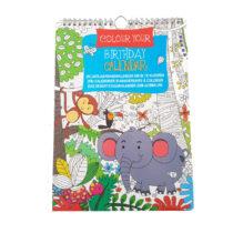 Verjaardagkalender Kleurboek Dieren