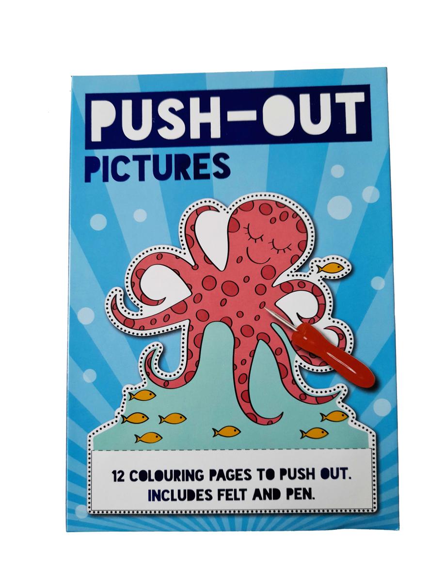 Prikbord Oceaan – 'Push-Out Plaatjes' met Prikbord en Prikpen