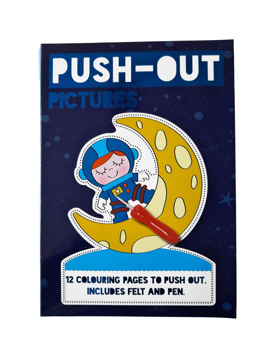 Prikbord Ruimte – 'Push-Out Plaatjes' met Prikbord en Prikpen