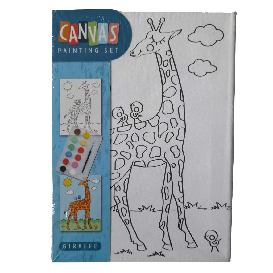 Canvas Giraffe – Schilderset
