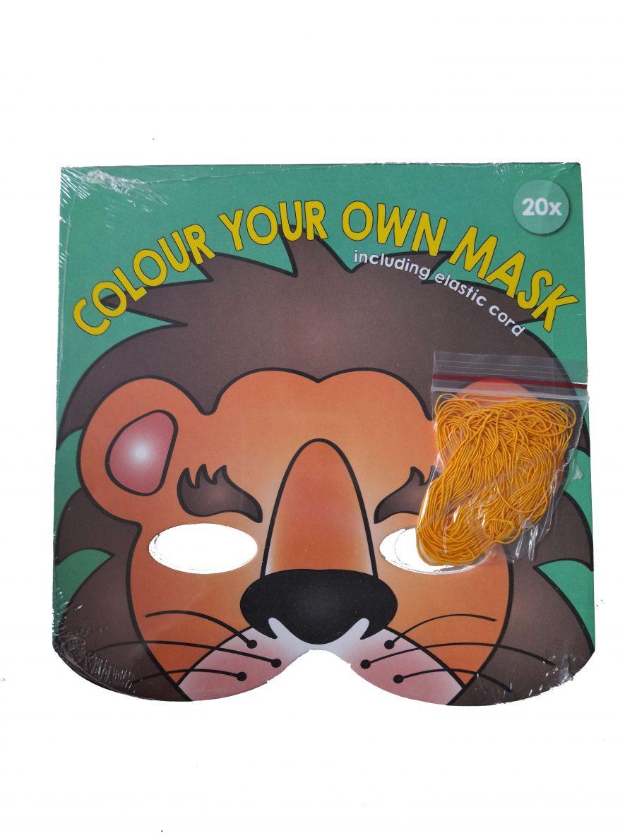 Kleur en Maak je Eigen Masker – Leeuw