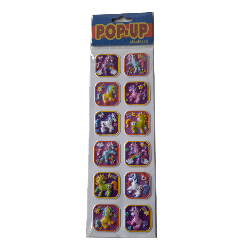 12 Pop-Up Eenhoorn Stickers