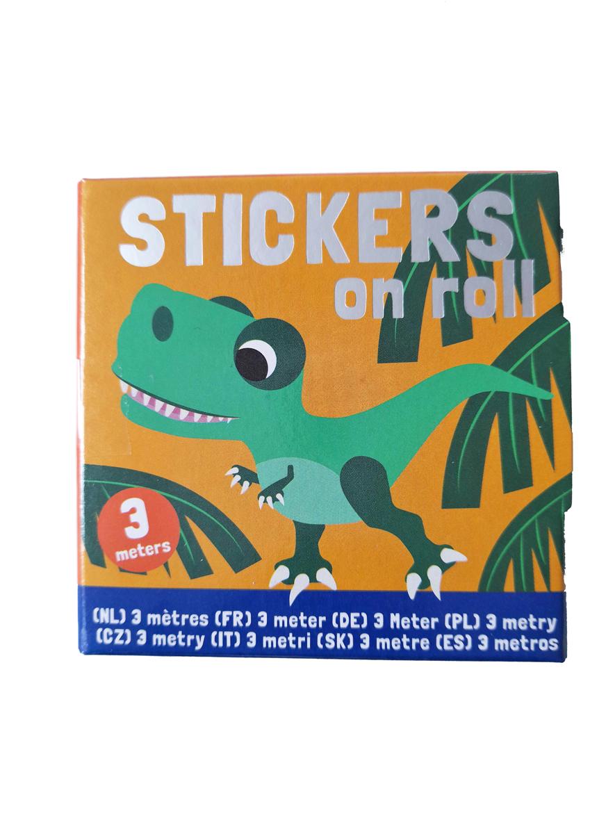 Dino Stickers op Rol